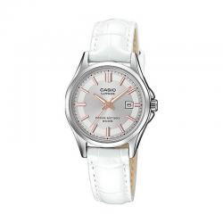 Reloj Casio Collection Analógico Blanco Piel LTS-100L-9AVEF