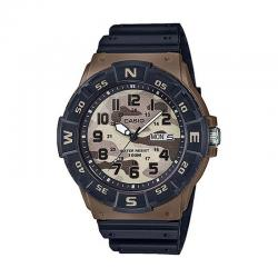 Reloj Casio Collection Analógico Camu Marrón Resina Negra MRW-220HCM-5BVEF