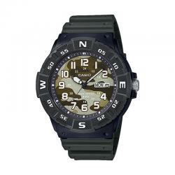 Reloj Casio Collection Analógico Camu Verde Resina Negra MRW-220HCM-3BVEF