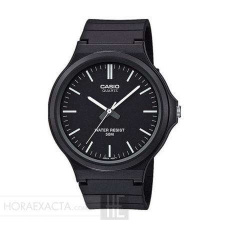 Reloj Casio Collection Analógico Negro Resina Negra 44 mm. MW-240-1EVEF