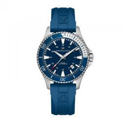 Reloj Hamilton Khaki Navy Scuba Auto Azul Caucho Bisel Azul/ Gris 41 mm.