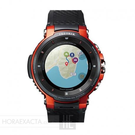 Reloj Casio Pro Trek Smart Black Orange WSD-F30-RGBAE