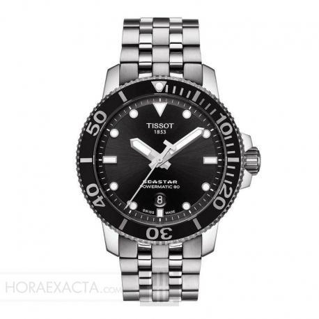 Reloj Tissot Seastar 1000 Powermatic 80 Negro Armis Acero