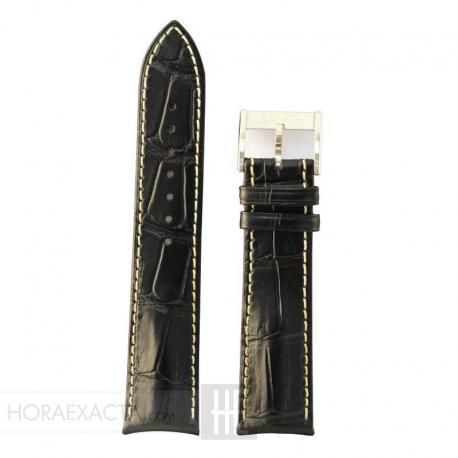 Correa Hamilton Piel negra Murph 22 mm.