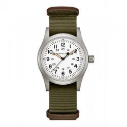 Reloj Hamilton Khaki Field Mechanical Blanco Nato Khaki 38 mm