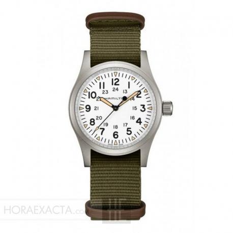 Reloj Hamilton Khaki Field Mechanical Blanco Nato Khaki 38 mm