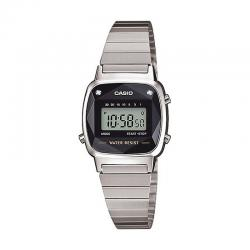 Reloj Casio Collection Digital Pequeño Armis Negro Diamantes LA670WEAD-1ER