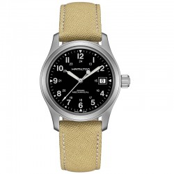 Reloj Hamilton Khaki Field Officer Handwinding Negro Lona Beig