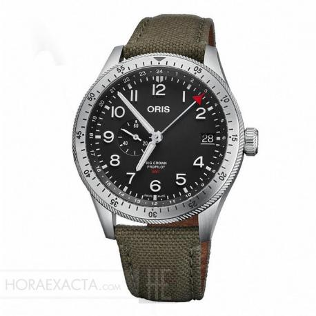 Reloj Oris Big Crown ProPilot Timer GMT Textil Verde 42 mm.
