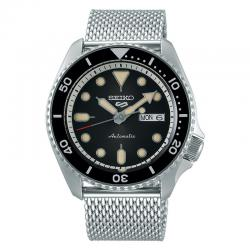 Reloj Seiko 5 Suits Automático Negro Milanesa Day Date 42,5 mm. SRPD73K1