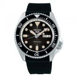 Reloj Seiko 5 Suits Automático Negro Silicona Day Date 42,5 mm. SRPD73K2