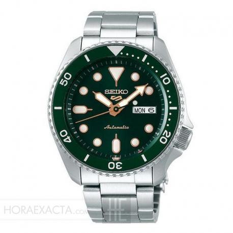 Reloj Seiko 5 Neo Sport Automático Verde Day Date Armis 42,5 mm. SRPD63K1