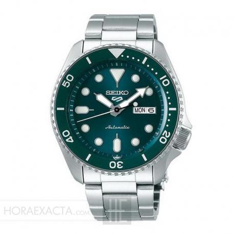 Reloj Seiko 5 Neo Sport Automático Verde Azulado Day Date Armis 42,5 mm. SRPD61K1