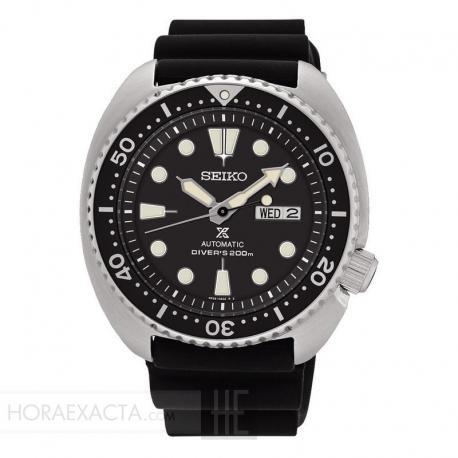 "Reloj Seiko Prospex ""Tortuga"" Negro Auto Caucho 44 mm SRP777K1"