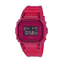Reloj Casio G-Shock Transparente Cuadrado Rojo DW-5600SB-4ER
