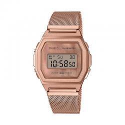 Reloj Casio Vintage Premium Nacar Armis Milanesa Oro Rosa A1000MPG-9EF
