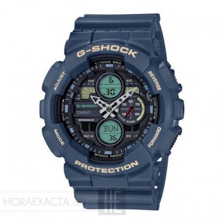 Reloj Casio G-Shock Azul Analógico Digital GA-140-2AER