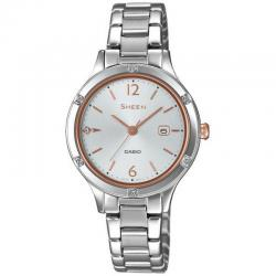 Reloj Casio Sheen Acero Armis Swarovski 30 mm. SHE-4533D-7AUER
