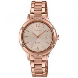 Reloj Casio Sheen PVD Oro Rosa Armis Swarovski 30 mm. SHE-4533PG-4AUER