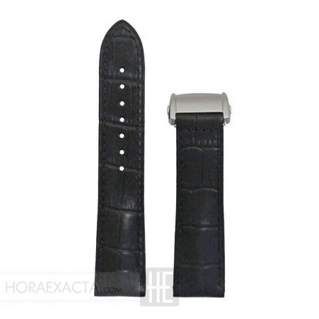 Correa Hamilton Piel negra 22 mm desplegable.