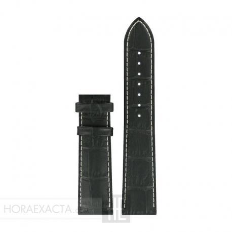 Correa Tissot Piel Negra 20 especial para cierre Tissot