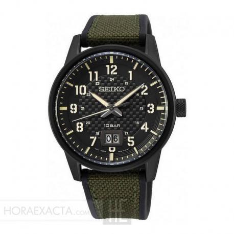 Reloj Seiko Urban Big Date Sport Negro Verde SUR325P1