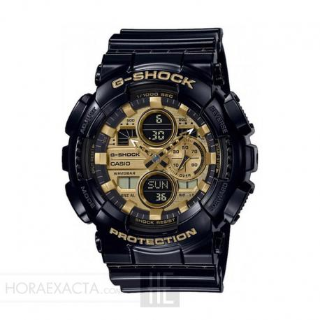 Reloj Casio G-Shock Dorado Negro Analógico Digital GA-140GB-1A1ER