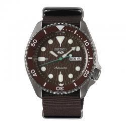 Reloj Seiko 5 Sport Sense Automático Marrón Day Date Nato 42,5 mm. SRPD85K1