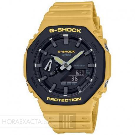 Reloj Casio G-Shock Analógico Digital Amarillo GA-2110SU-9AER