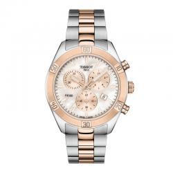 Reloj Tissot PR 100 Lady Sport Chic Chrono Cuarzo Acero con PVD Oro Rosa Nacar 38 mm.
