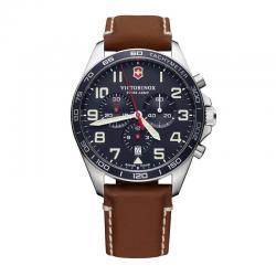 Reloj Victorinox Fieldforce Chrono Cuarzo Azul Piel Marrón 42 mm. V241854