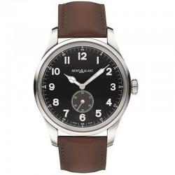 Reloj Montblanc Colección 1858 Pilot Cuerda Manual Piel