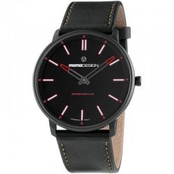 Reloj Momo Design Essenziale Sport PVD Negro Rojo Piel
