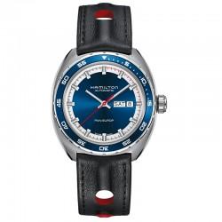 Reloj Hamilton Pan Europ Azul Auto Piel Textil
