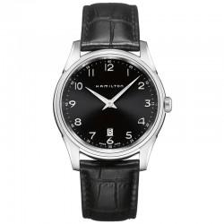 Reloj Hamilton Jazzmaster Thinline Cuarzo Negro Piel Negra