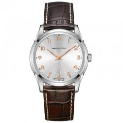 Reloj Hamilton Jazzmaster Thinline Cuarzo Blanco Piel Marrón