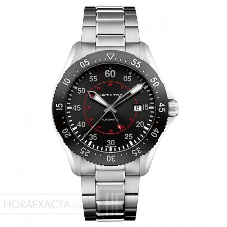 Reloj Hamilton Khaki Aviation Pilot GMT Auto Negro Armis