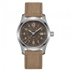 Reloj Hamilton Khaki Field Auto Moka Textil 42 mm
