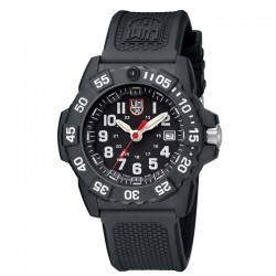 Reloj Luminox Navy Seal Negro Blanco Caucho Negro 44 mm.