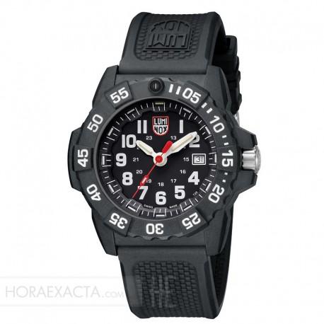Reloj Luminox Navy Seal Negro Blanco Caucho Negro 44 mm.