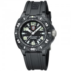 Reloj Luminox Sentry Negro Blanco Caucho Negro 44 mm.