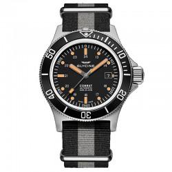Reloj Glycine Combat Sub 42 Auto Negro Nato Gris Negro