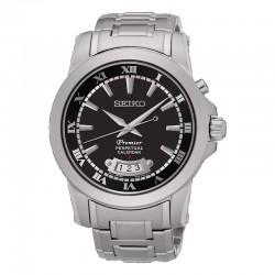 Reloj Seiko Premier Cuarzo Calendario Perpetuo Negro Armis 42 mm.