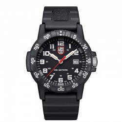 Reloj Luminox Leatherback Sea Turtle Giant Negro Blanco Caucho 44 mm.
