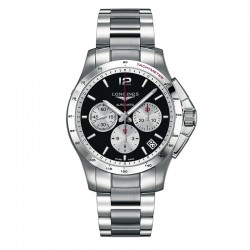 Reloj Longines Conquest Auto Crono Negro Armis 44 mm. OUTLET *