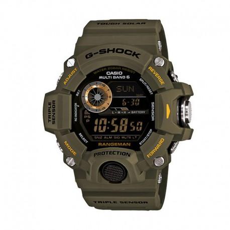 dac854e88fcc Reloj Casio G-Shock Digital Triple Sensor Verde Militar. GW-9400-3ER.