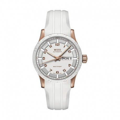 da3f60a40dc9 Reloj Mido Multifort Auto Blanco PVD Oro Rosa Caucho 38 mm.OUTLET