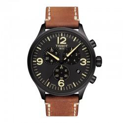 Reloj Tissot Chrono XL PVD Negro Piel Marrón 45 mm.