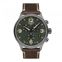 Reloj Tissot Chrono XL PVD Gris Piel Marrón 45 mm.