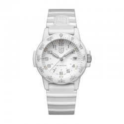 Reloj Luminox Leatherback Sea Turtle Blanco Silicona Blanca 39 mm.